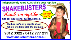 Reptile shows Melbourne