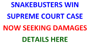 Snakebusters overturn unlawful closure